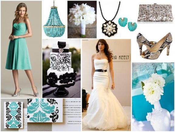 amber and turquoise wedding ideas