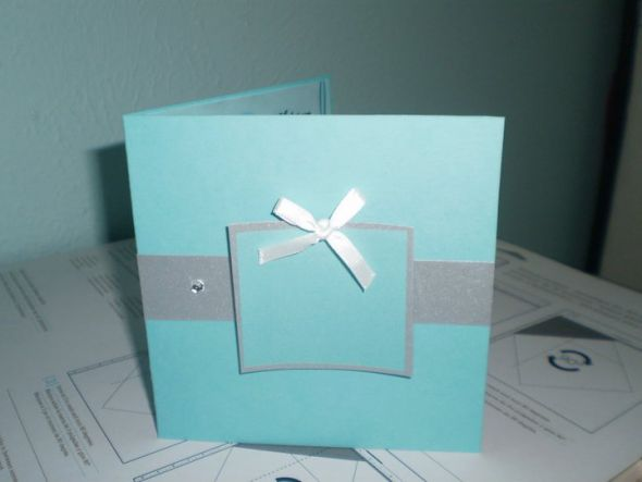 Here 39s my DIY Tiffany theme wedding invitation tiffany wedding invitations