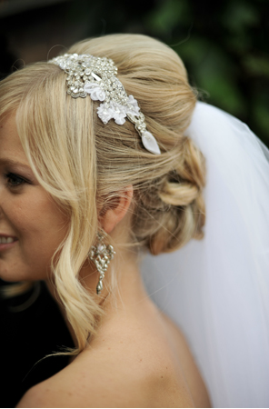 Wedding hair, and headpiece