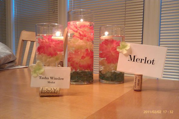 Flower Floating Candle Centerpiece wedding diy centerpiece flowers