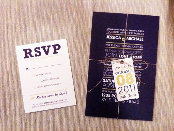 Modern/Rustic Wedding Invites