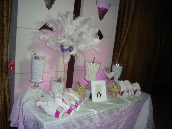 White Candy Buffet wedding candy buffet white take out boxes ostrich