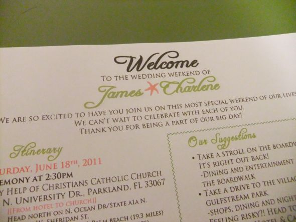 Welcome Letter | Weddingbee Photo Gallery
