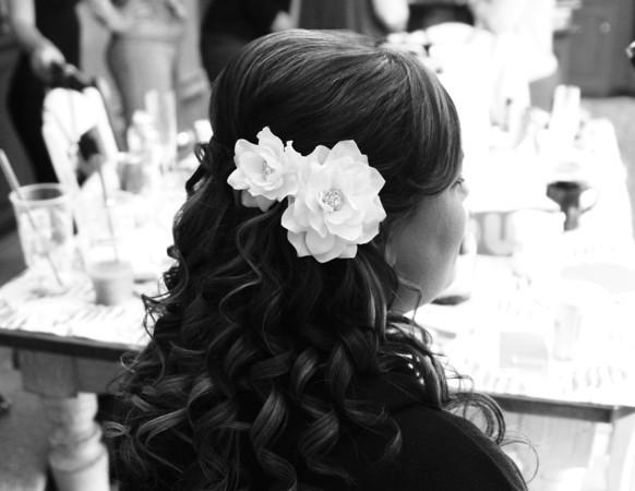 My half up/half down wedding hair