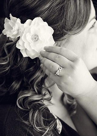 Bridal Gardenia Hair Clips