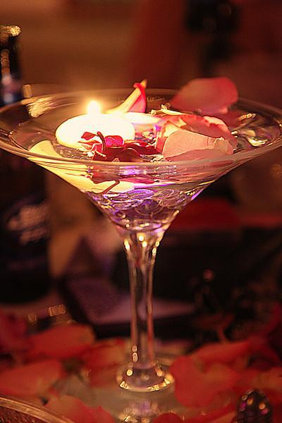 My Martini Glass Centerpieces