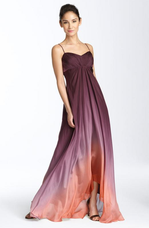 Chiffon Evening Gown- purple &