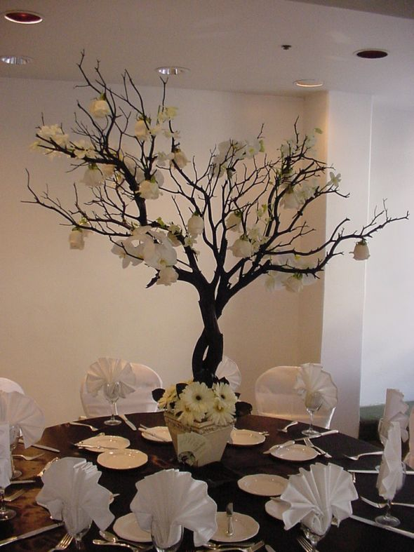 or trees for centerpieces Michigan area preferably wedding decor