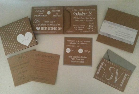 Diy Kraft Paper Wedding Invitations: Weddingbee Photo Gallery