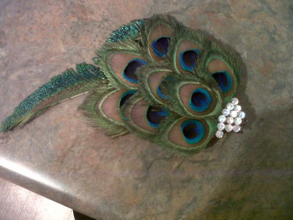 Peacock Feather Hairpiece!