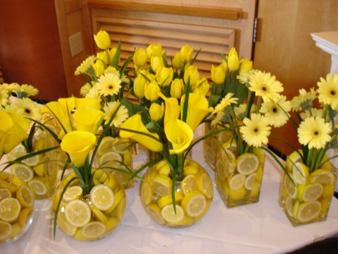 Wedding Ideas Table Centerpieces with Lemons