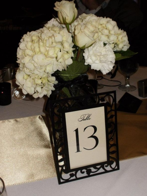 Black Champagne Table Numbers 126 wedding table champagne floral frame