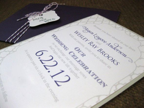 Purple and Gray Wedding Invitations Posted 6 days ago by amethystmeg