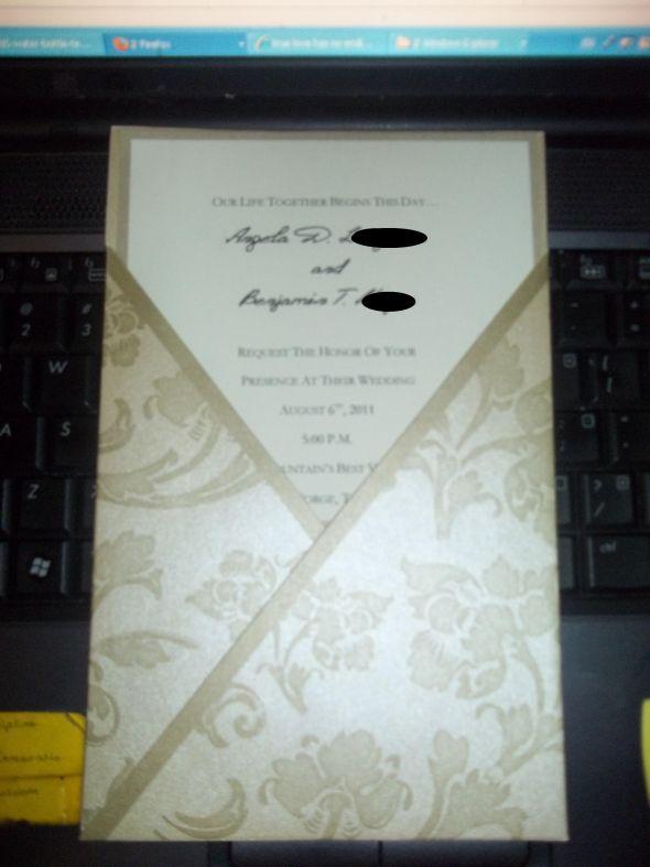 My invitations wedding invitations diy black brown ivory inspiration