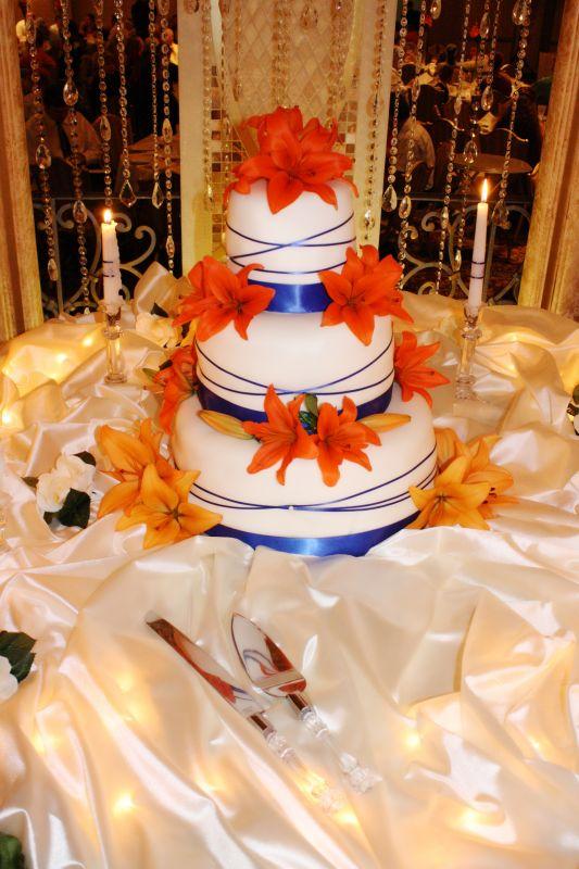 Keelee\'s blog: orange blue daisy wedding cake phdserts It 39s just ...