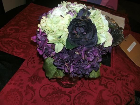 My eggplant green and ivory bridal bouquet wedding eggplant purple
