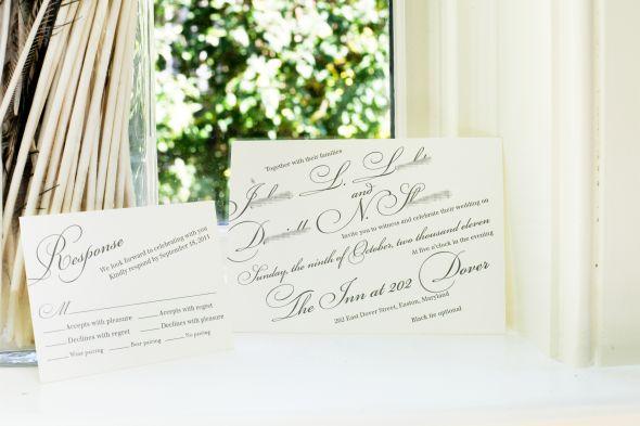 grey and ivory wedding