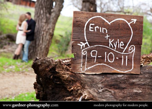 wood signs great for rustic wedding or engagement shoot wedding rustic