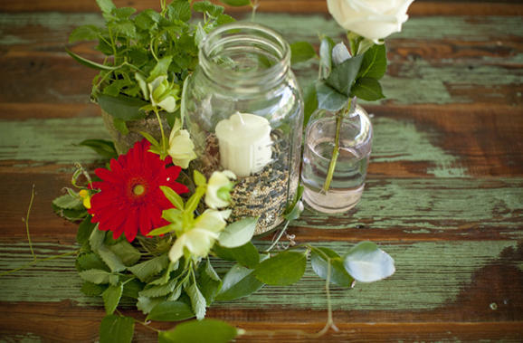 Mason Jar Centerpieces wedding Budget Farm Centerpiece Ideas
