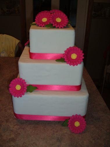 gerbera pink wedding cake gerbera daisy pink Squaregerberdaisy