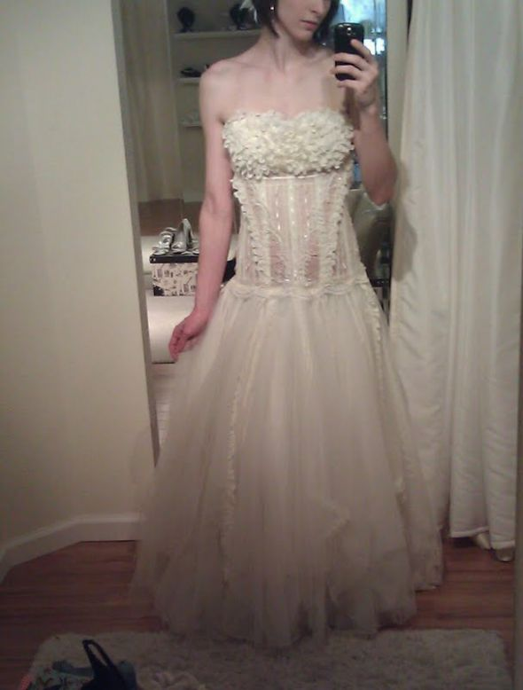 Unique, Dropped Waist, Tulle, Lace,