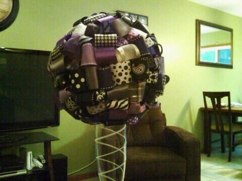 Centerpieces for sale wedding centerpieces ribbon black purple white