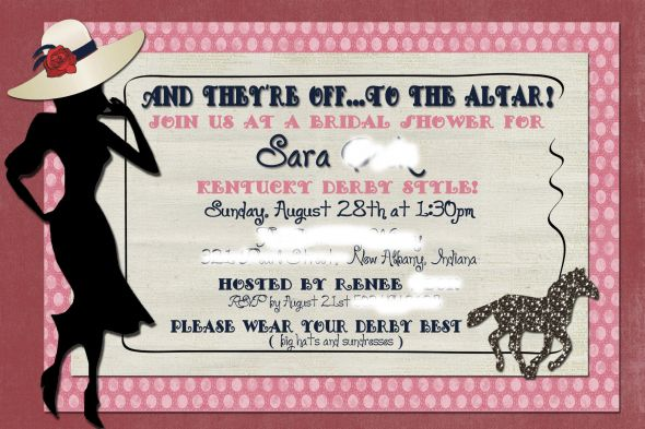 kentucky derby bridal shower invitations bridal shower brunch ideas ...