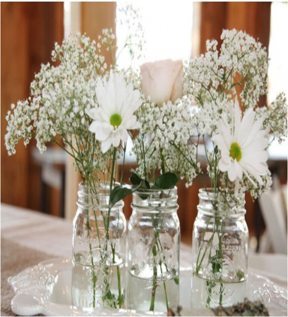 Mason jar centerpiece advice?