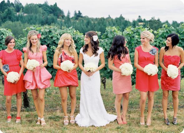 Spectrum of CORAL wedding coral bridesmaids dresses Dresses