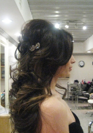 Hair Trial... :  wedding bridal hair bride bridesmaids ceremony hair hair trial trial IMG 521411Re