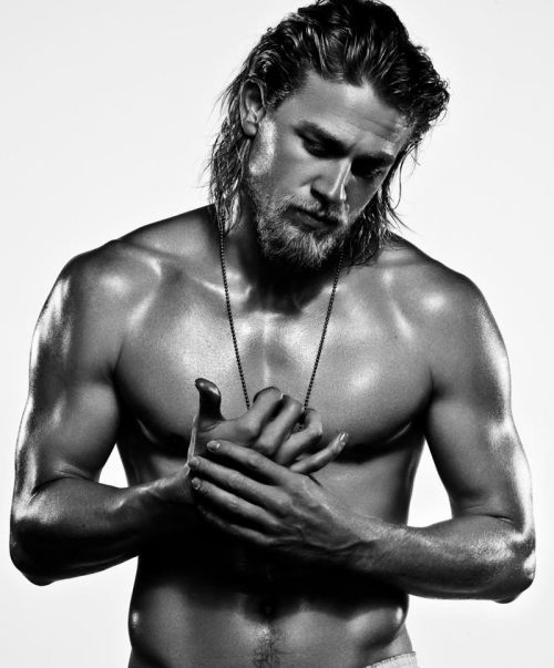 Charlie Hunnam shirt less