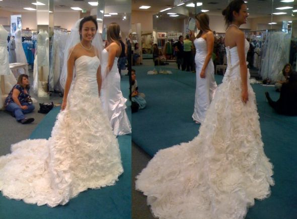 Help Me Choose A Wedding Dress Recommend A Fit And Flare Wedding - Rosette Wedding Dress