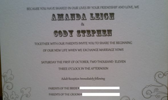 Wedding invitation and response card wording filmwisefo