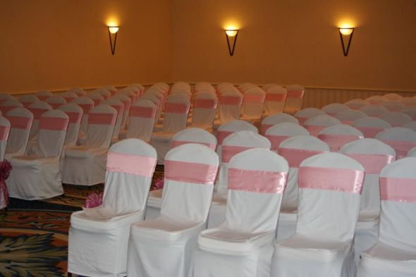 wedding pink red white silver reception Wedding Chairs And