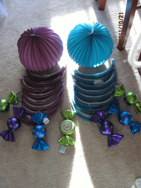 Demeeka 39 s blog followings really are a few wedding - Purple and teal centerpieces ...