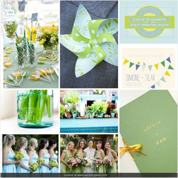 Choice 3 blue and green Color Palette for a Vintage Up Wedding