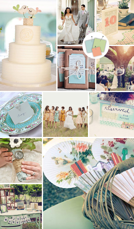 color schemes for weddings blue and green
