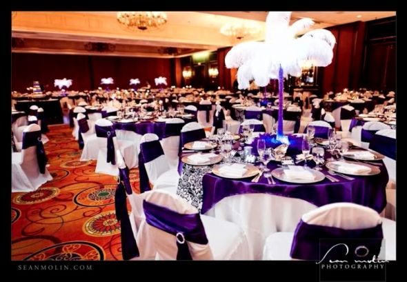 Her Dream came true!! :  wedding black purple silver ADP Reception