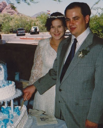me and my husband, 20 years ago:)