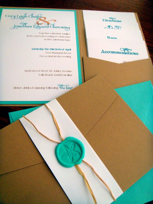 Labor of Love Beach Chic invites