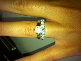 Wedding ring and engagement ring combo with pic