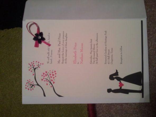 My VistaPrint WEDDING INVITATIONS