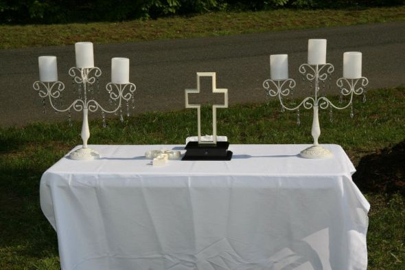 Unity Cross wedding unity cross inspiration ceremony Unity Cross Table