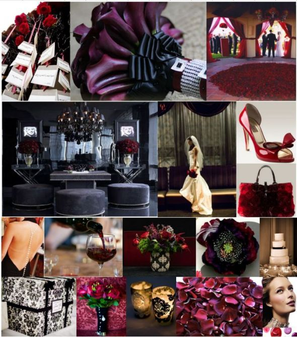 black and red wedding decorations. wedding colors decor