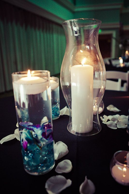 There were also small votive candles we well The others had floral and