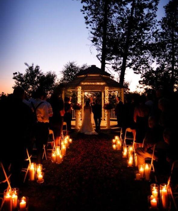 Outdoor Wedding Ceremony No Music: Night Wedding Epiphany