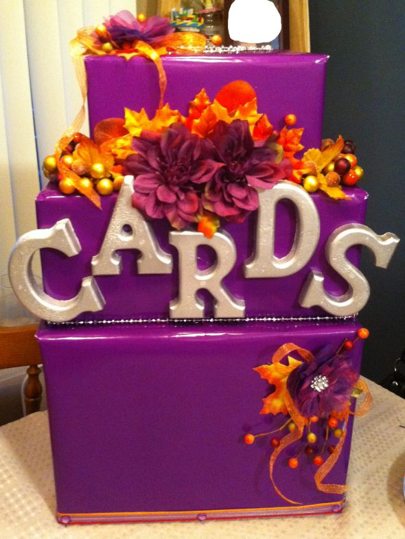Pretty Purple DIY Cardbox