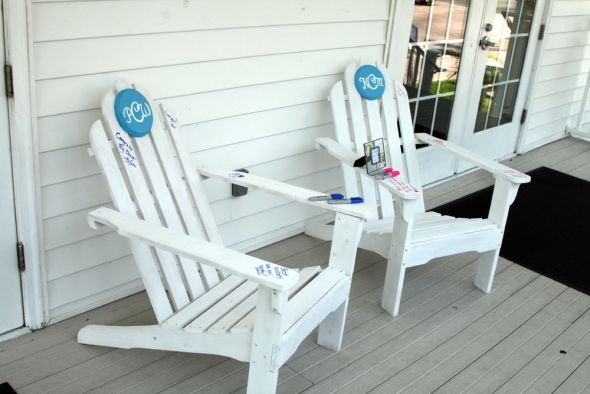 adirondack chairs on beach. Adirondack Chairs On Beach A
