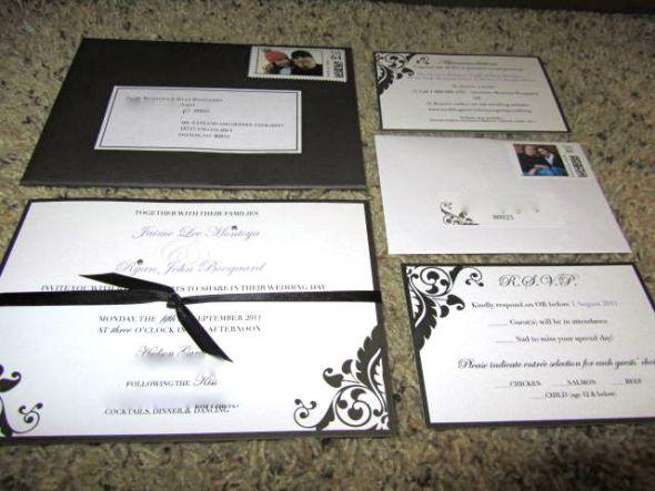 SEMI DIY (Brides From Michaels) Damask Invitations