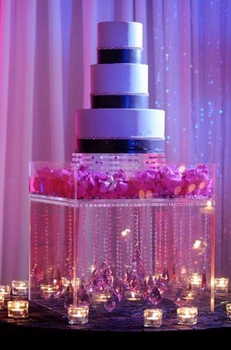 Lighted Crystal Cake Stand